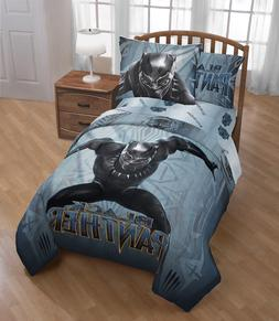 Black Panther Twin/Full Comforter Set Boys Bedding Sham Supe