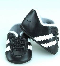 "Black Soccer Shoes made for 18"" American Girl Boy Doll Cloth"
