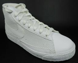 Nike Blazer MID PS 375490 112 Boys Shoes White Sneakers Leat