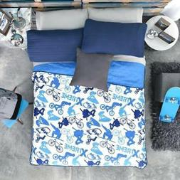 "Blue bedding for boys ""Extreme sports"", Guarantee*"