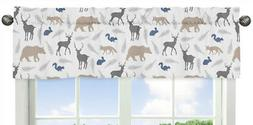 Sweet Jojo Designs Blue Grey and White Woodland Animals Coll