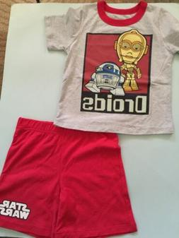 STAR WARS Boy  OUTFIT/ Set  For TODDLER Boys  size 4T Red &