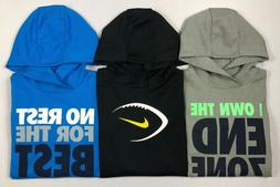 Boy's Little Youth Nike Dry Dri-Fit Hooded Long Sleeve Therm