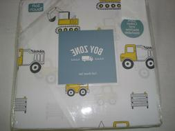 Boy Zone:4 pc FULL Sheet set - CONSTRUCTION VEHICLES/Dump TR