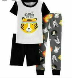 Boys 2 piece pajama set yellow/black Carters So Pumped For B