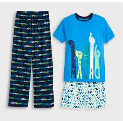 Boys' 3pc Pajama Set - Cat & Jack  Blue Dream  Size 8-10 Sho