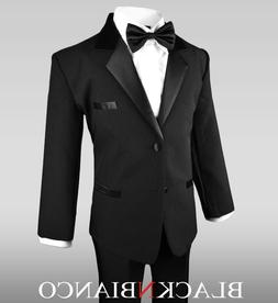 Boys Black Tuxedo for Kids of All Ages Formal Wear With  Bla