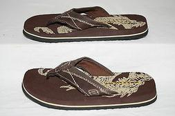 BOYS SKECHERS BROWN DRAGON FLIP-FLOPS - SEE LISTING FOR SIZE