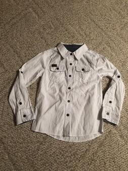 7 For All Mankind Boys Button Up Shirt New With Tags Size 6