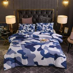 Boys Camo Comforter Set Kids Teens Camouflage Bedding Sets A