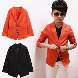 Boys Clothes Suit Jacket Kids Toddlers Wedding Party Blazer