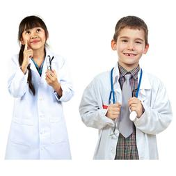 Boys Girls White Lab Coat Scientist Doctor Medical Super Sof
