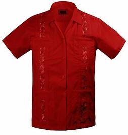 Boys Guayabera Shirts For Kids And Children Short Sleeve In