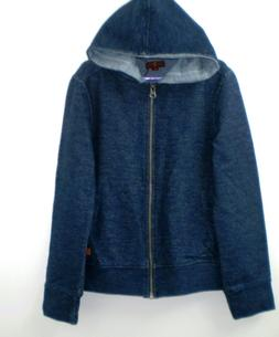 7 For All Mankind Boys Indigo Full Zip Sweatshirt Hoodie S 1