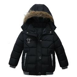Boys Jacket Baby Fashion For Children Kids Hooded Warm Outer