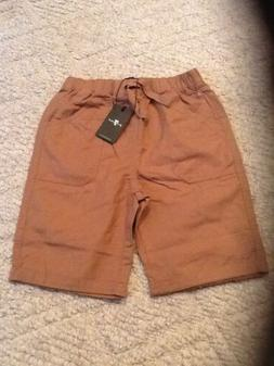 7 For All Mankind Boys Khaki Shorts Size Medium NWT
