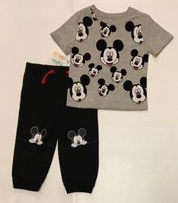 Disney Baby Boys Mickey Mouse 2 Piece Outfit Size 18 Months