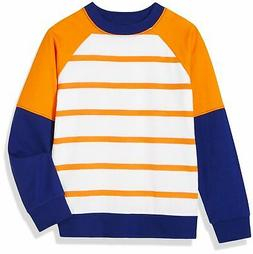 A for Awesome Boys Raglan Crewneck Sweatshirt Large Orange S