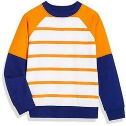 A for Awesome Boys Raglan Crewneck Sweatshirt X-Small Orange
