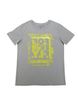 """Champion Boys Size 10/12 """"For Ever Fly"""" S/S T-Shirt, Silvers"""