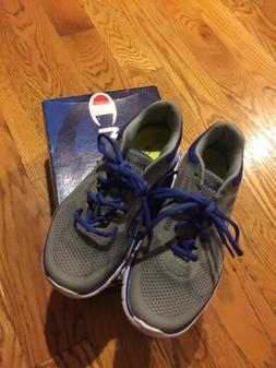 CHAMPION Boy's Sneaker Size 4 gray color brand New With Bo