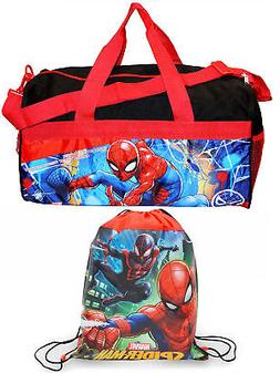 "Boys Spider-Man Duffel Bag 18"" Carry-on & Sling Bag 2-Pieces"