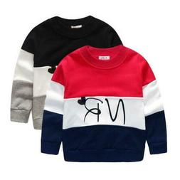 Boys sweatshirt cotton t-shirt for boys cartoon outwear kids