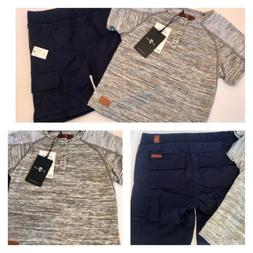 7 For All Mankind Boys' Tee & Cargo Shorts Set - Size 2T - N
