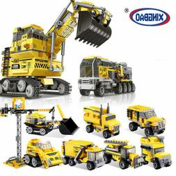 Boys Truck Toy Kids Alloy Construction Engineering 8 in 1 Ex