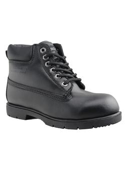 Boys Water Resistant Leather Work Shoes Casual Lace-Up Marti