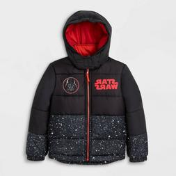 Boys' Winter Coat Star Wars Vader Puffer Jacket - Black 6