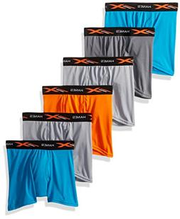 Hanes Boys' X-Temp Performance Cool Dyed Boxer Brief 6-Pack,