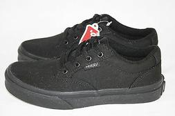 BOYS YOUTH VANS BLACK LACE SHOES - SEE LISTING FOR SIZES