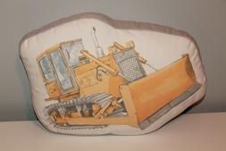Bulldozer Truck Pillow Construction Room Nursery Bedding Yel