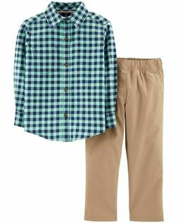Carter's 2-Piece Gingham Flannel & Canvas Pant Set for Boys