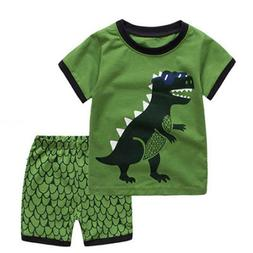 Cartoon Kids Clothes Suits For Boys Shorts Sleeves Length Tr