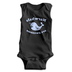 Honeykid Cartoon Narwhals are Awesome Unisex Baby 100% Cotto