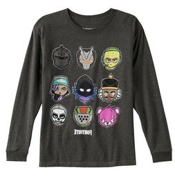 Fortnite Chibi Character Heads Long Sleeve Shirt for Boys Ch