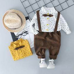 Children Clothes Suits Toddler For Baby Boys Sets Shirt Bib