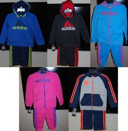 Adidas children hooded 2 piece active wear sets for boys and