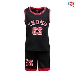 Children's Clothes Suit for Boys Girls Basketball Set Kids S