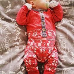 Christmas Romper Bodysuit Jumpsuit Outfits Clothes For Toddl