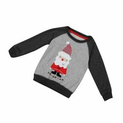 Christmas Sweatshirt Cotton T-Shirt For Boys Santa Outwear K