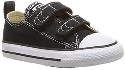 Converse Boys' Chuck Taylor All Star 2V Low Top Sneaker, Bla