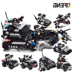 City compatible Police SWAT Helicopter Building Blocks <font