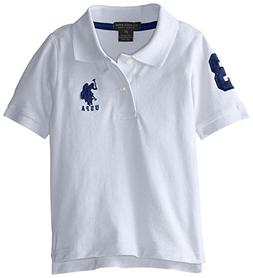 U.S. Polo Assn. Little Boys' Classic Letters Pique Polo Shir