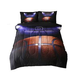 basketball court comforter set for boys men