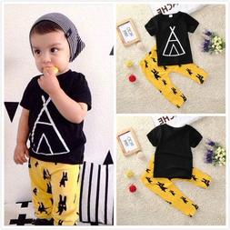 Cotton Clothes For Boys Kid Summer Casual T-shirt With Pants