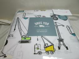 Boy Zone Cotton Full Sheet Set CONSTRUCTION VEHICLES SITE ~