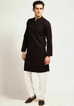 Cotton Kurta Pajama For Black Men Yoga Indian Clothing Ethni